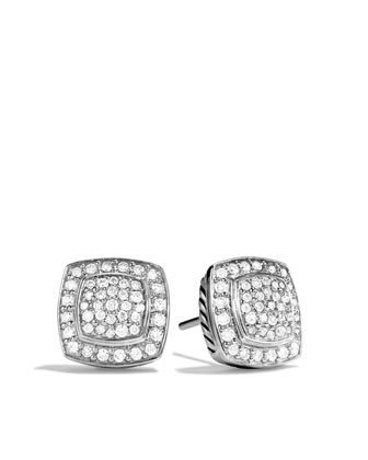 Square Diamond Cushion Earrings