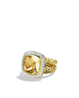 11mm Champagne Citrine Albion Ring