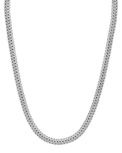 Small Oval Woven Chain Necklace, 18