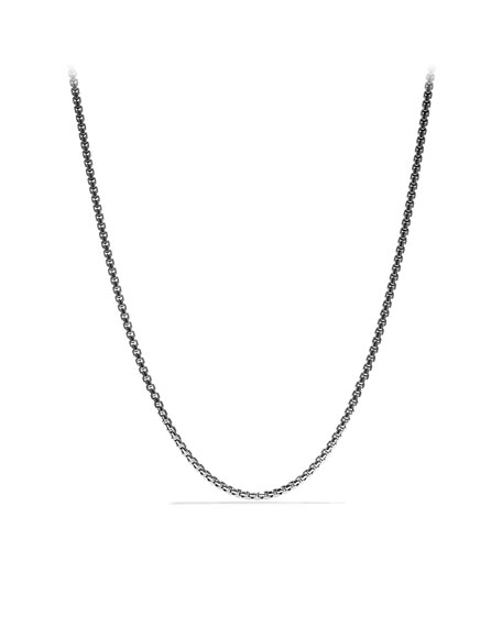 "David Yurman Medium Box Chain with Gold, 18""L"