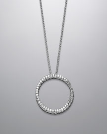 David Yurman -  Crossover Circle Necklace -  Neiman Marcus :  ring sterling silver crossover neiman
