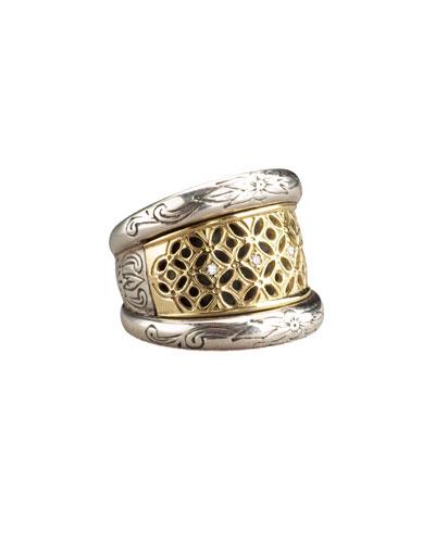 Lattice Diamond Ring