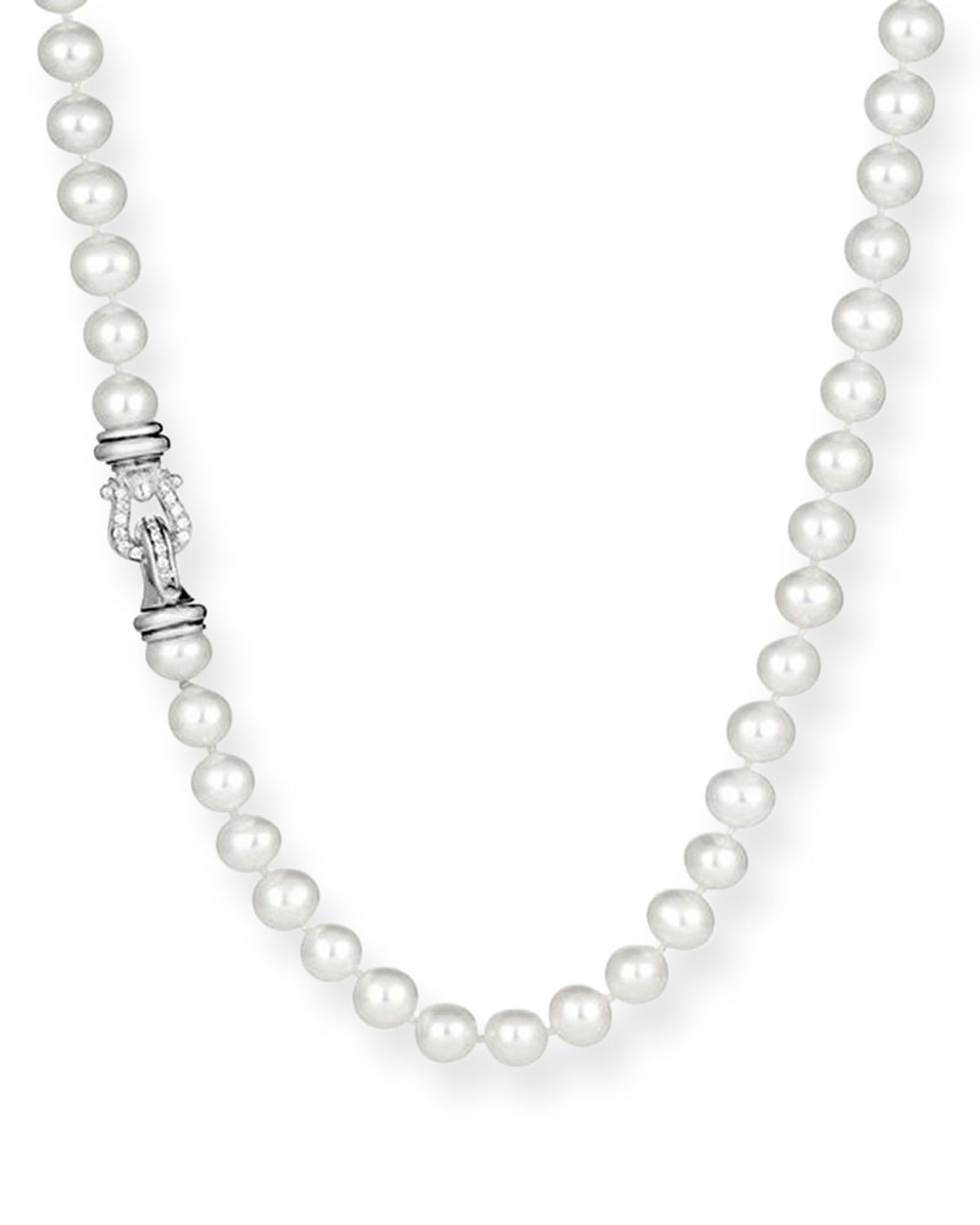 Pearl Necklace with Diamonds, 36