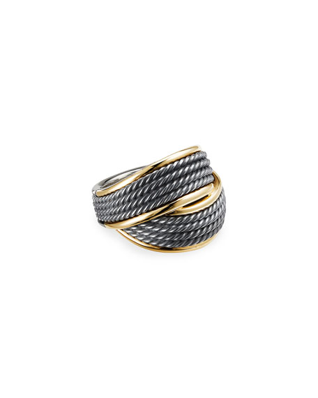 David Yurman Origami Crossover Ring, Size 6-8