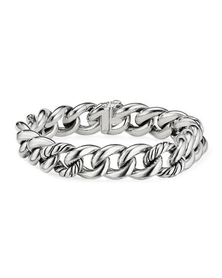 David Yurman Curb Chain Bracelet, Size S