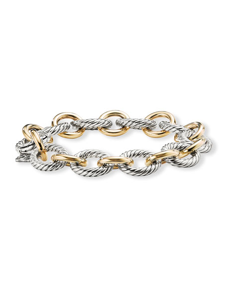 "David Yurman 7.5"" Large Oval Link Chain Bracelet"
