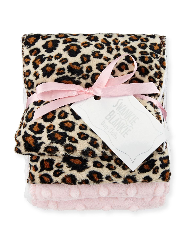 Cheetah Burp Cloth Set Plain