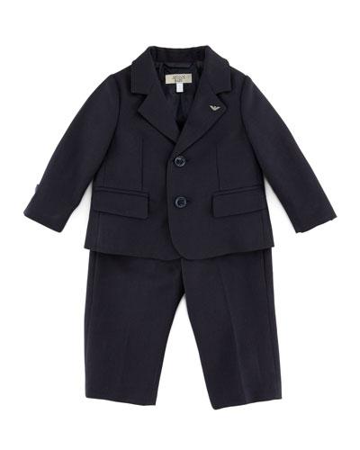 Armani Junior Little Boys' Two - piece Suit, Blue, 3 - 24 Months