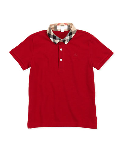 William Check-Collar Polo Shirt, 4Y-10Y