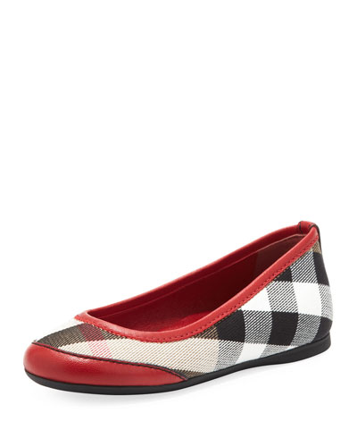 Kid Parade Ballerina Flat, Red, EU Sizes 27-34