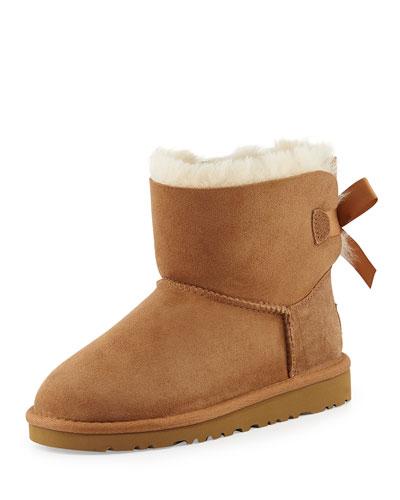 Kids' Mini Bailey Bow Short Boot, Chestnut, 13T-4Y