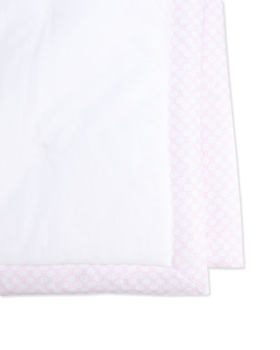 Solid Blanket, White/Pink