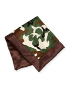 Camouflage Security Blanket, Brown