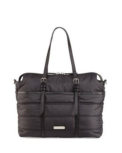 Abbey Quilted Nylon Diaper Tote Bag