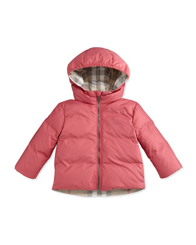 Rio Hooded Reversible Down Jacket, Size 6M-3Y