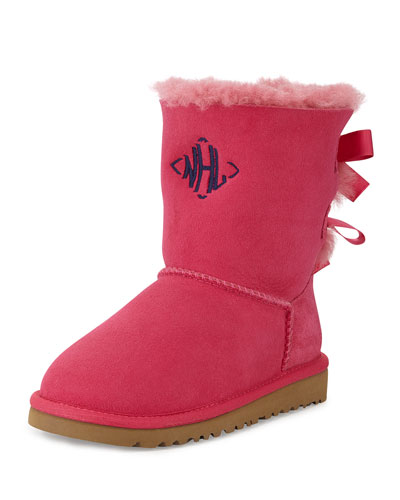 Kids' Bailey Boot with Bow, Cerise, 13T-4Y