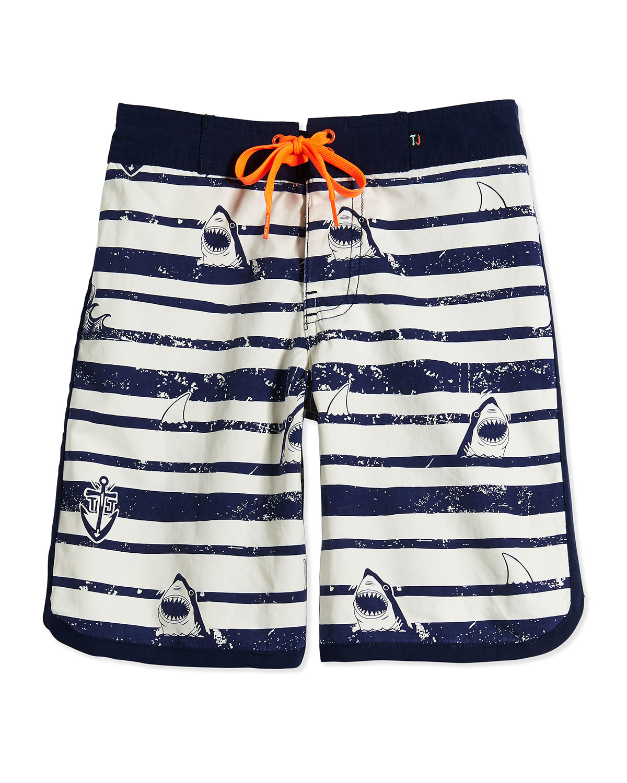 Sergeant Shark Retro Board Shorts, Fuel, Boys' 0-10