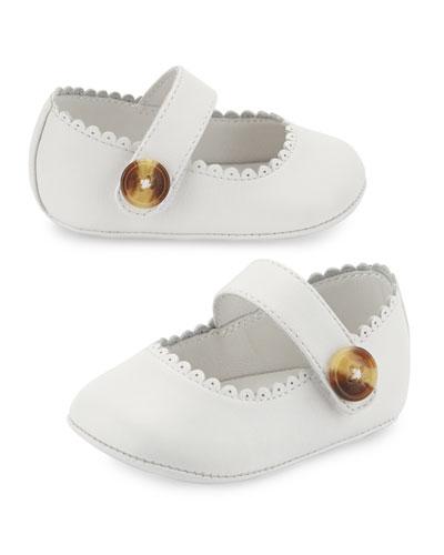N1-Hounsett Newborn Leather Mary Jane, Optic White