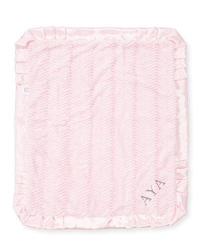 Ziggy Plush Receiving Blanket, Pink