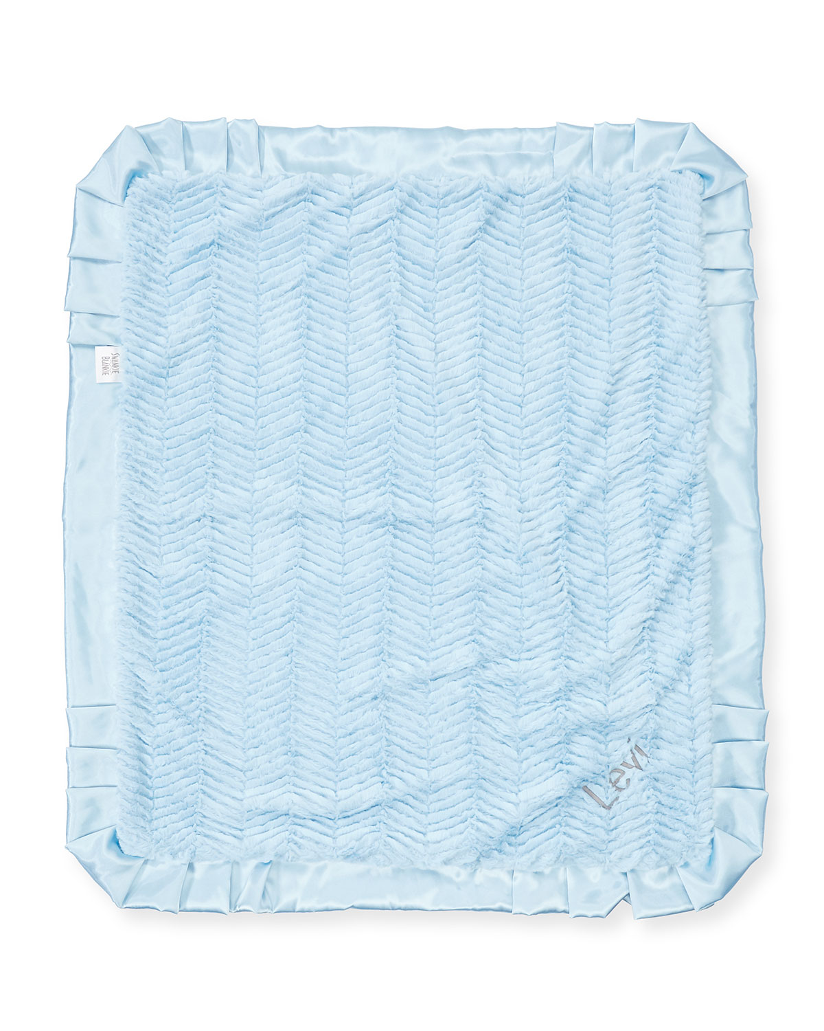 Ziggy Plush Receiving Blanket Blue