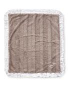 Ziggy Plush Receiving Blanket, Slate