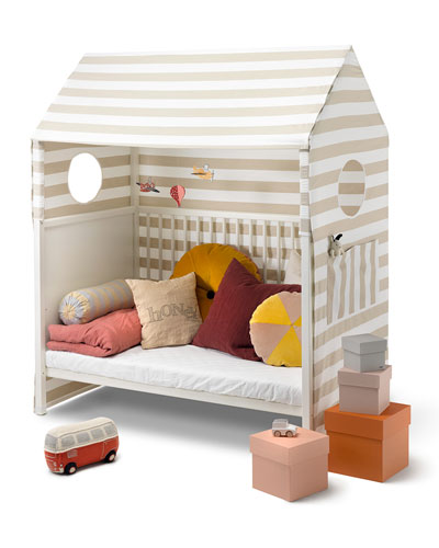 "Homeâ""¢ Toddler Bed Tent, Beige/White"