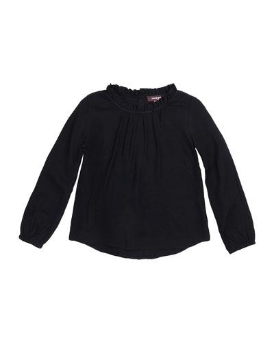 Carol Long-Sleeve Woven Blouse, Size 8-14