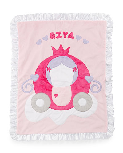 The Carriage Plush Blanket, Pink