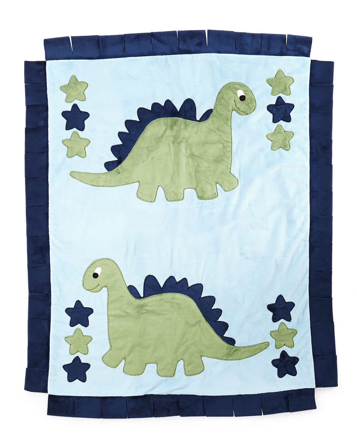 Boogie Baby Plush Dino The Dinosaur Blanket, Blue / green