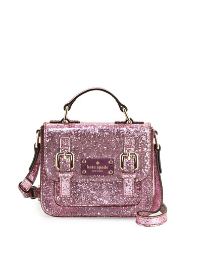 scout metallic patent leather crossbody bag, cotton candy