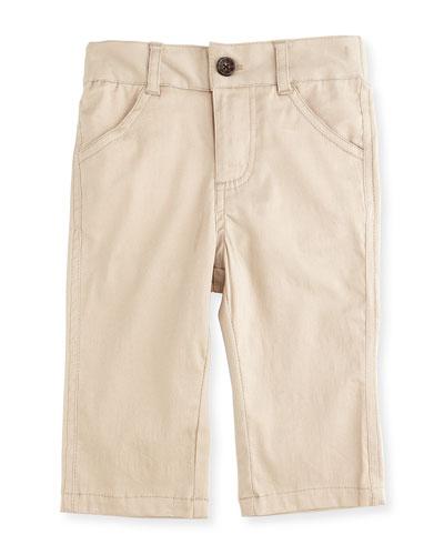 Twill Straight-Leg Pants, Khaki, Size 6-24 Months