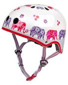 Girls' Elephant-Print Helmet
