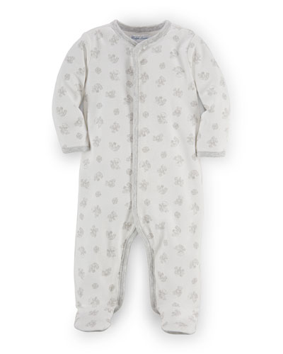 Printed Interlock Footie Pajamas, Size Newborn-9 Months