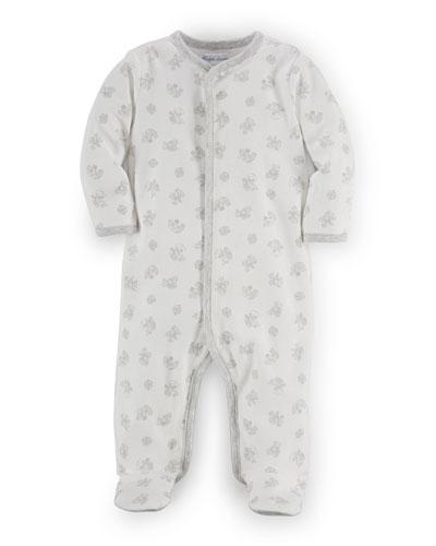 Printed Interlock Footie Pajamas, Size Newborn-9 Months