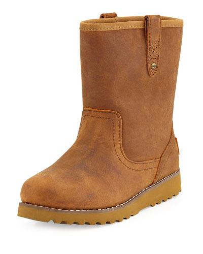 Redwood Leather Boot, Chestnut, Youth