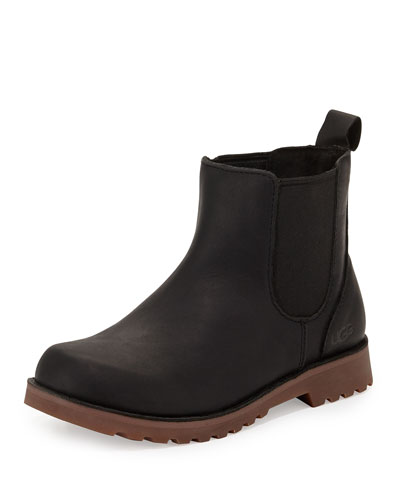 Callum Leather Chelsea Boot, Black, Toddler