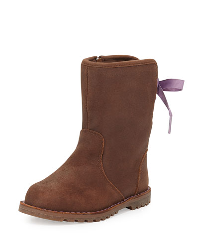 Corene Suede Boot, Chocolate, Toddler