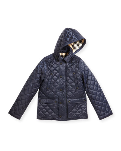 Charlie Quilted Jacket, Ink Blue, Size 4-14