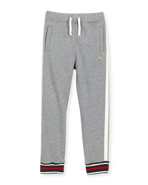 Stretch Jersey Track Pants, Gray