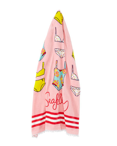 Seafolly Spring Bloom Kids' Cotton Velour Beach Towel, Multicolor