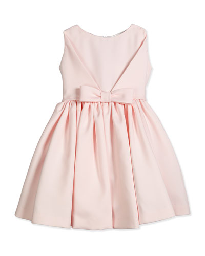 Sleeveless Satin Party Dress, Pink, Size 4-6