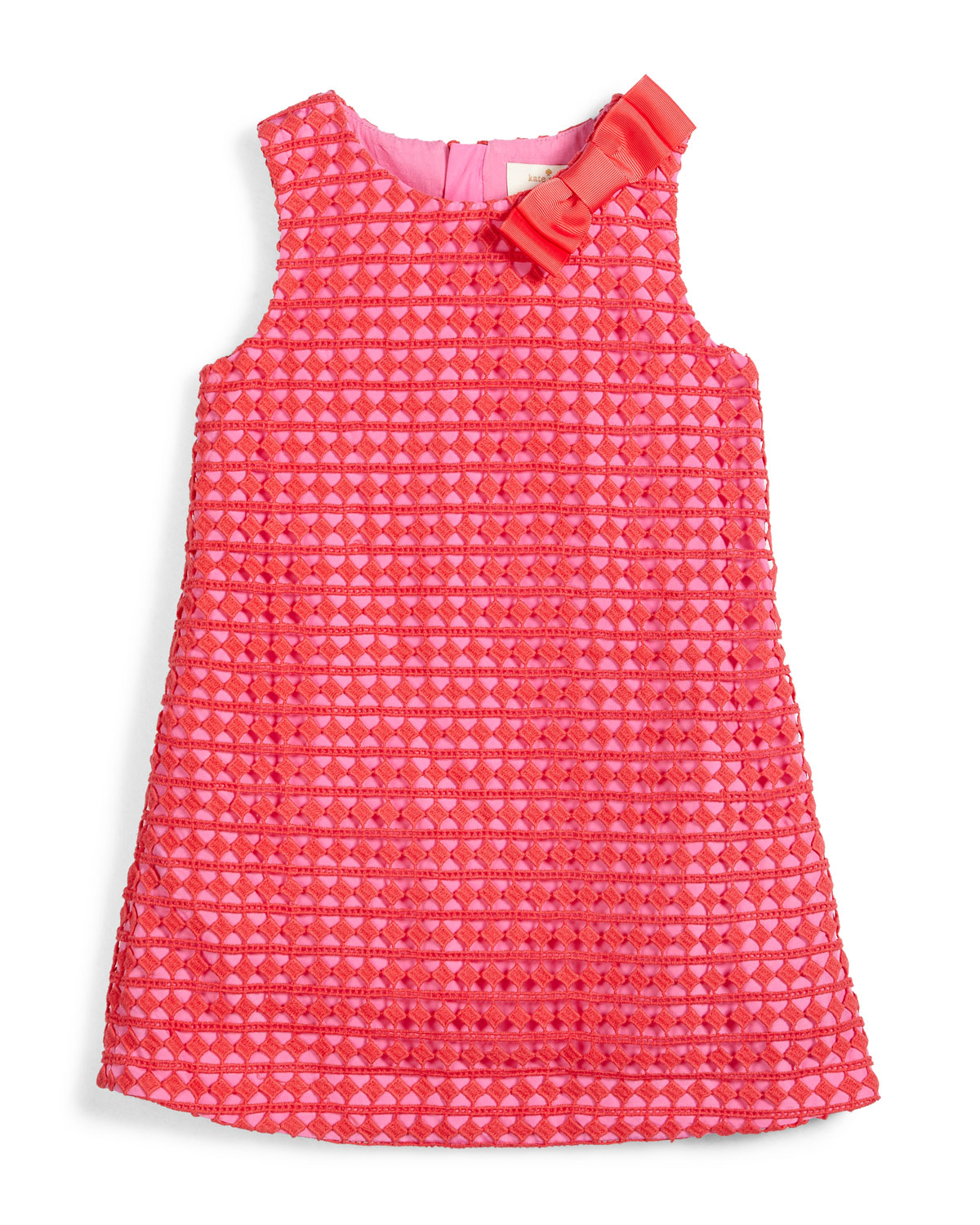 sleeveless lace shift dress, pink, size 7-14