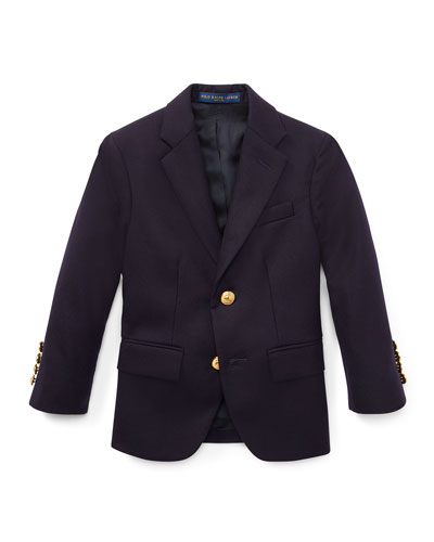 Lessona Wool Blazer, Navy, Size 5-7