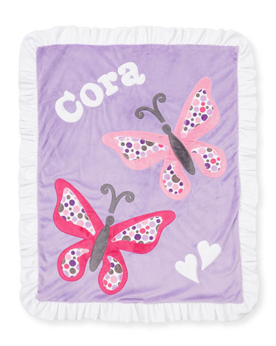 Plush Butterfly Blanket, Light Purple