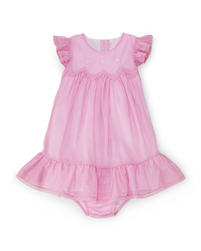 Sleeveless Cotton Voile Shift Dress w/ Bloomers, Metro Pink, Size 9-24 ...