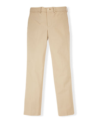 Stretch Chino Slim-Fit Pants, Classic Khaki, Size 2-7