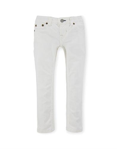 Jemma Cotton Skinny Jeans, White, Size 2-6X