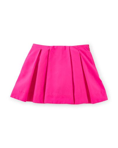 Pleated Taffeta Skirt, Pink, Size 2-6X
