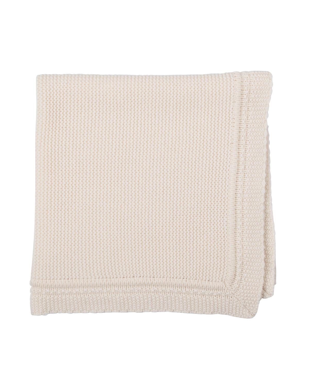 Cashmere Crochet Blanket, White