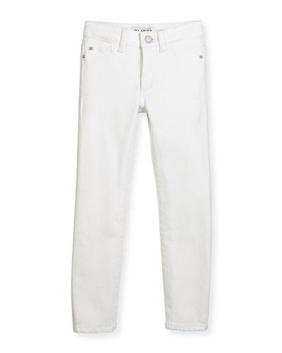 Chloe Stretch Skinny Jeans, Snow, Size 2-6